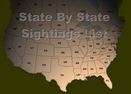 state by state sightings list